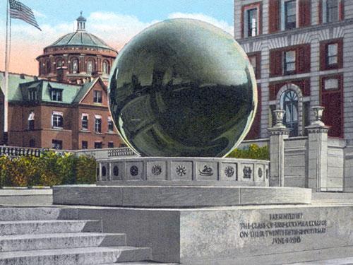 Columbia's sundial - vintage postcard