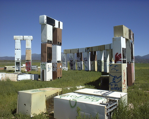 Fridgehenge, thanks 'spiralingroove' on Flickr