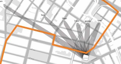 Marathon path through LIC Sundial