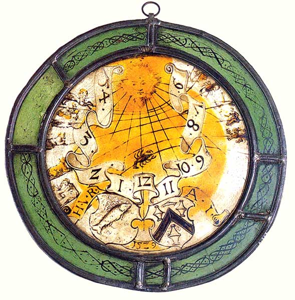 stained glass sundial